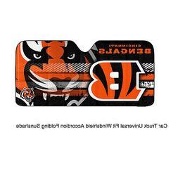 NFL Cincinnati Bengals Universal Auto Shade, Large, Orange