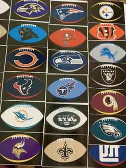 NFL Logo Football Decal Stickers Oval Choose Your Team Stick