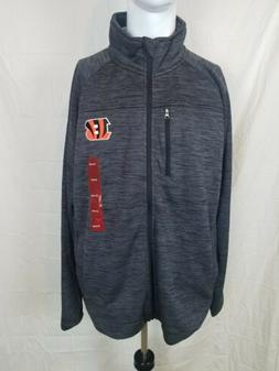 NFL Team Apparel Cincinnati Bengals Zip-Up Sweater