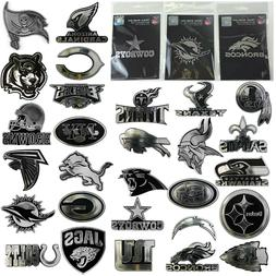 NFL Team Pick Your Team Logo Plastic Chrome Car Truck Auto E