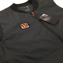 NWT Nike Mens Med Cincinnati Bengals NFL Coaches Sideline Ve